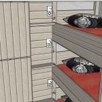 Aménagement tête de lit sur-mesure - image extraite d'un plan 3D